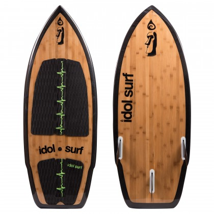 twist carbon bamboo wake surfboard