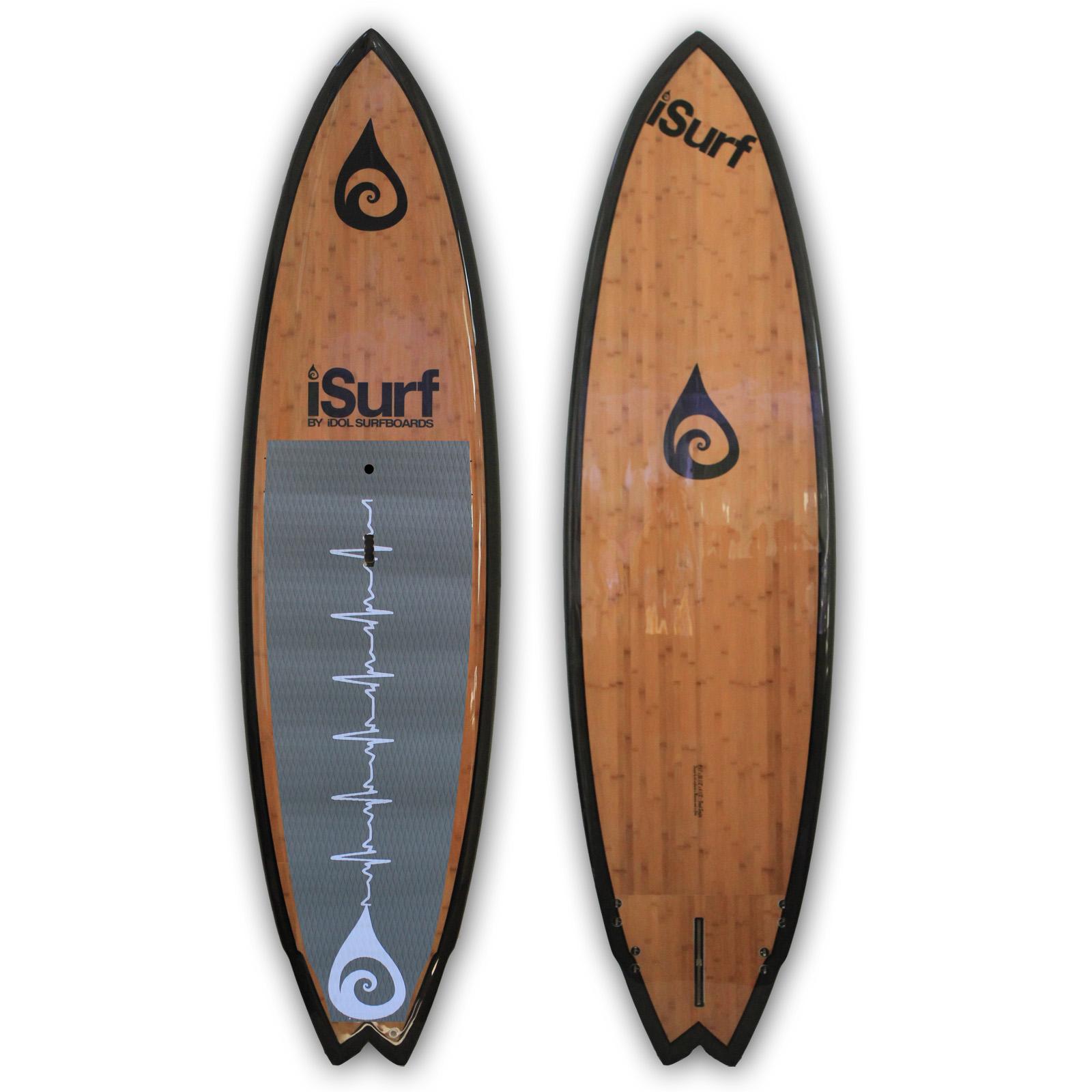 9 11 Fresh Surfer Carbon Bamboo Idol Wake Surfing