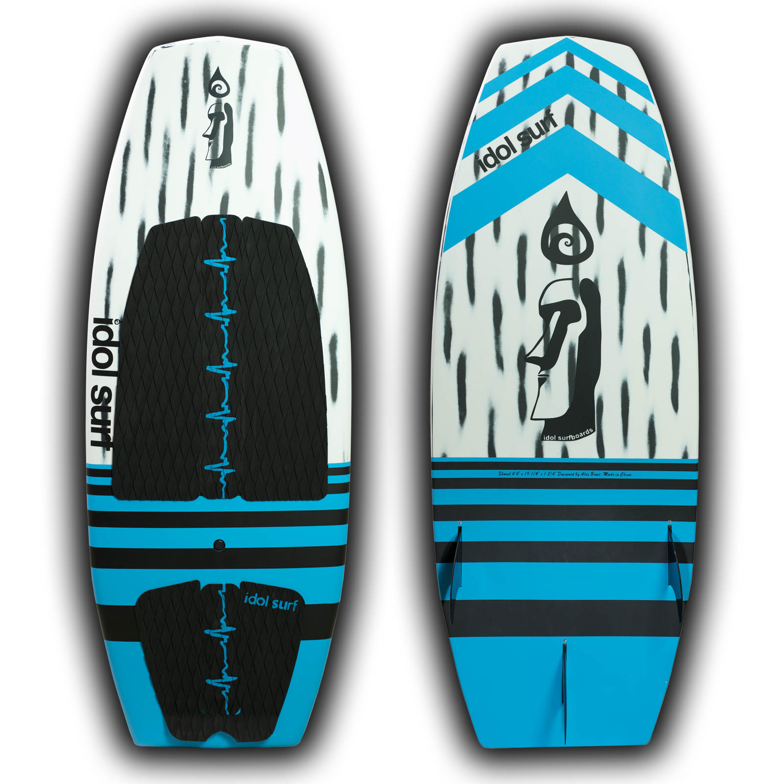 brushed carbon wake surfboard