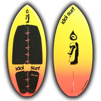 image of kids skim wake surfboard